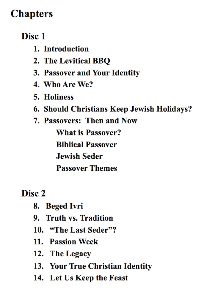 MiP DVD contents