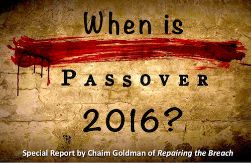 When is Passover 500